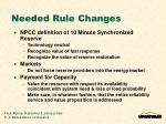 needed rule changes