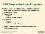 pjm responsive load programs