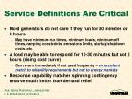 service definitions are critical