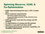 spinning reserve icap co optimization