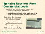 spinning reserves from commercial loads
