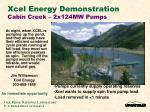 xcel energy demonstration cabin creek 2x124mw pumps