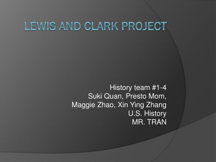 lewis and clark project n.