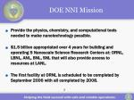 doe nni mission