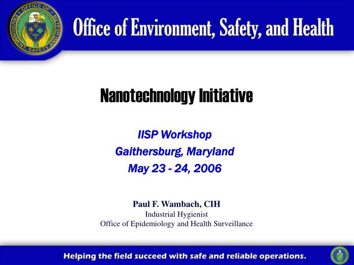 nanotechnology initiative n.
