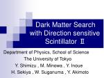dark matter search with direction sensitive scintillator