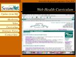 web health curriculum