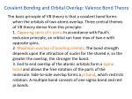 covalent bonding and orbital overlap valence bond theory