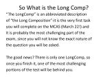 so what is the long comp