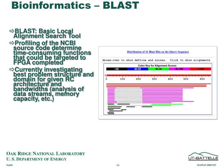 Bioinformatics – BLAST