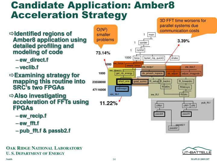 Candidate Application: Amber8 Acceleration Strategy