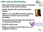 vop code by phil bentley