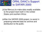 ornl daac s support to safari 2000