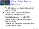other data sets in mercury