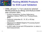 posting modis products for eos land validation