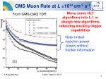 cms muon rate at l 10 34 cm 2 s 1