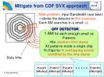 mitigate from cdf svx approach
