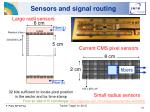 sensors and signal routing
