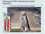 endangered ww ii manhattan project properties