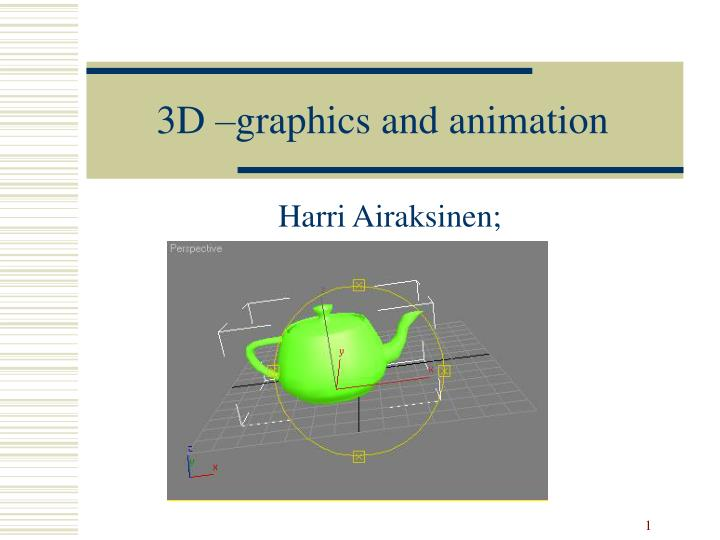 3d graphics and animation n.