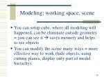 modeling working space scene