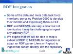 rdf integration