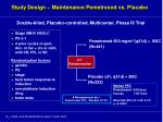 study design maintenance pemetrexed vs placebo