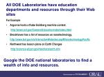 all doe laboratories have education departments and resources through their web sites