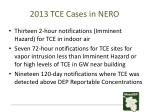 2013 tce cases in nero