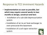 response to tce imminent hazards2