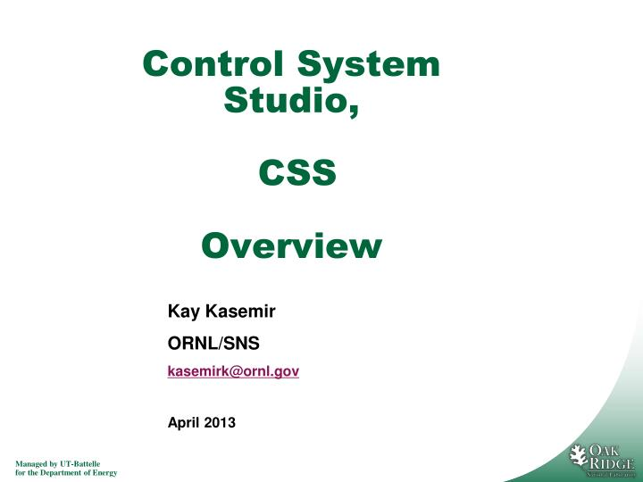 control system studio css overview n.