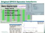 original epics operator interfaces