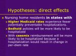 hypotheses direct effects