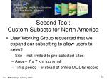 second tool custom subsets for north america