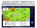 subsets in geotiff webgis coll 4