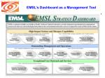 emsl s dashboard as a management tool