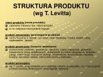 struktura produktu wg t levitta