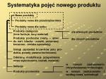 systematyka poj nowego produktu