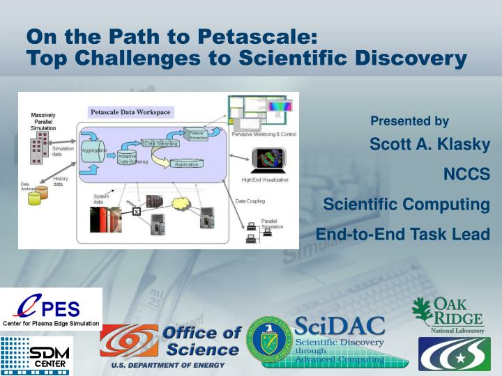 on the path to petascale top challenges to scientific discovery n.