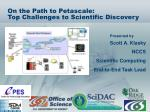 on the path to petascale top challenges to scientific discovery