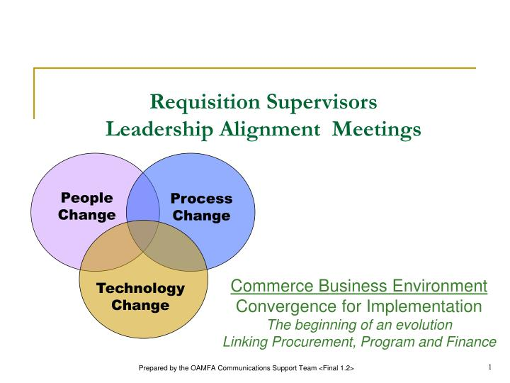 requisition supervisors leadership alignment meetings n.