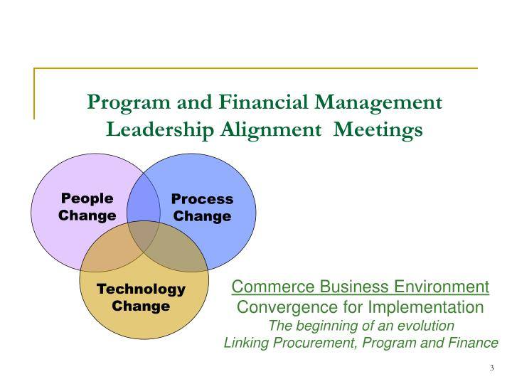 program and financial management leadership alignment meetings n.