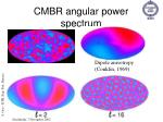 cmbr angular power spectrum
