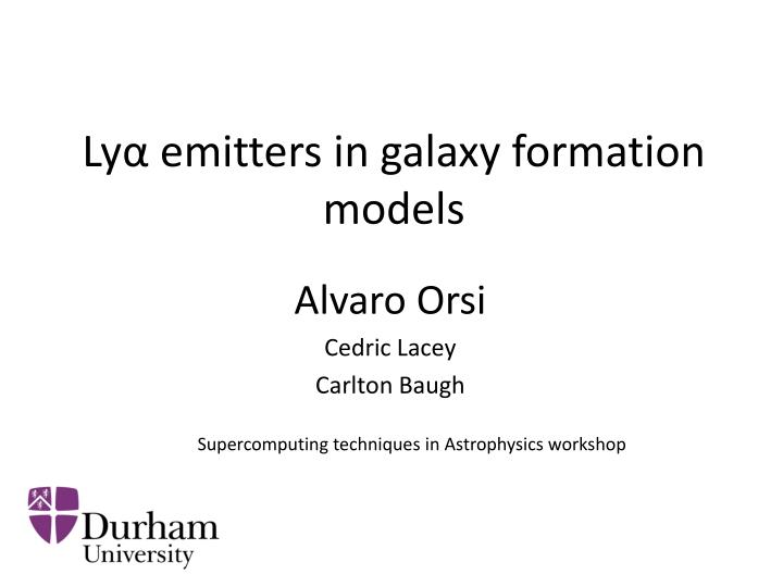 ly emitters in galaxy formation models n.