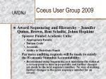 coeus user group 200911