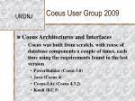 coeus user group 200914