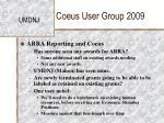 coeus user group 200920