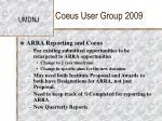 coeus user group 200921