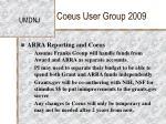coeus user group 200923