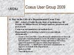 coeus user group 200925